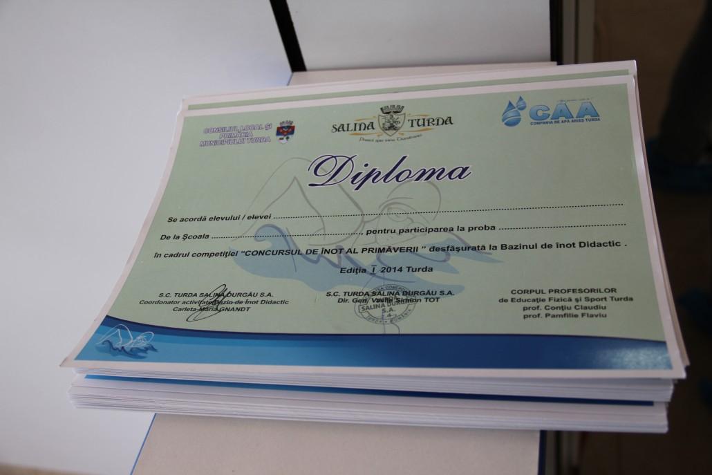 8 aprilie 2014_parteneriat la concursul de înot